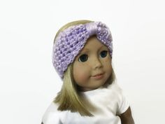 Headband Turban Light Purple 18 Inch Doll by PreciousBowtique