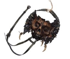 leather Zombie necklace by FamilySkinersStyle to Etsy