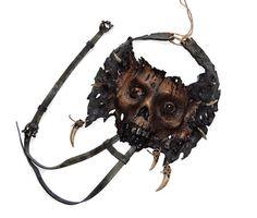#Leather #totem #zombie #necklaces #zombiejewelry #gothicjewelry #skull #monster #jewelry #horror