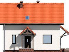 DOM.PL™ - Projekt domu ARD Stokrotka 1 CE - DOM RD1-42 - gotowy koszt budowy Small Wooden House, Dom, House Plans, Garage Doors, Outdoor Decor, Home Decor, Brick Homes, Blueprints For Homes, Homemade Home Decor