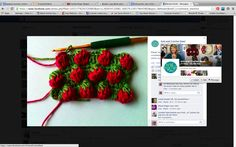 Strawberry Stitch Tutorial Just a single line of this would make such a cute trim for a sunbonnet and/or little girls dress.