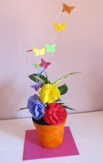 fiori e farfalle di carta