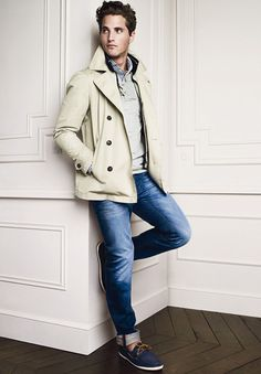 Great casual look. Love the layering. Easily one of my favorite looks. Gentleman Mode, Gentleman Style, Mode Masculine, Sharp Dressed Man, Well Dressed Men, Look Fashion, Mens Fashion, Fashion Menswear, Casual Wear