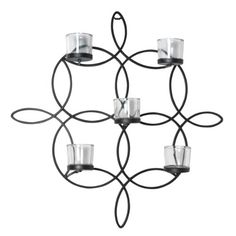 Elements Metal Loop 5Tealight Wall Sconce 18Inch ** Check out this great product.