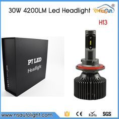 (48.00$)  Watch more here  - Free Shipping P7 30w 4200lm led headlight lamp Hi/Lo auto H13 led car headlight bulbs H13 led headlight bulb