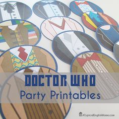 A Typical English Home: Doctor Who Party Circles Printable