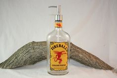 We have created the ultimate Fireball® accessory by attaching a stainless steel soap/lotion pump to a 750ml glass Fireball® liquor bottle. How awesome this would look at your next party or bar-b-q, fi