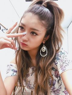 Beautiful Japanese Girl, Pearl Earrings, Drop Earrings, Gyaru, Asian Beauty, Fashion Models, Actresses, Hair Styles, Kawaii