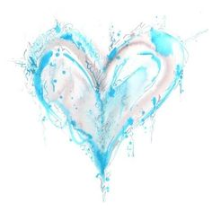Water color heart! Tattoo inspiration. would look betterl if their where horses or some animal in it though