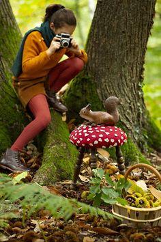 DIY déco: tutoriel pour customiser un tabouret en forme de champignon - Marie Claire Couture Lin, Mushroom Stool, Couture Sewing, Stuffed Mushrooms, Creations, Couple Photos, Summer, Vintage Stool, Diy Room Decor
