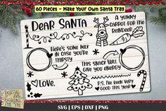 Santa Cookies, Milk Cookies, Christmas Quotes, Christmas Svg, Christmas Time, Christmas Decor, Christmas Ideas, Christmas Ornaments, Watercolor Clipart