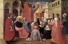 St. Peter Preaching in the Presence of St. Mark – Fra Angelico. Artist: Fra Angelico. Completion Date: c.1433. Style: Early Renaissance.