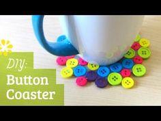 Bright button coasters