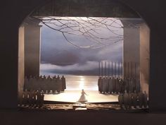 A model for the new staging, inspired by the paintings of Norwegian artist Odd Nerdrum and designed by Johan Engels, of Richard Wagner's Lohengrin at the 2003 Spoleto Festival