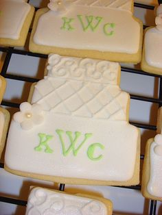 100 Wedding Cake Cookie Edible Wedding Favors by WackyCookies