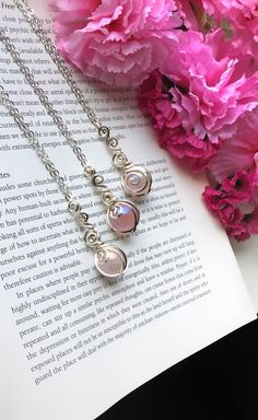 These dainty little aura rose quartz spheres are wrapped in silver plated copper wire and come in a chain length of your choice. Check out my shop- TheSeleniteWhisperer on etsy for more :) Wire Wrapped Jewelry, Wire Jewelry, Handmade Jewelry, Rose Quartz Crystal, Crystal Healing, Chakra Meanings, Wire Wrapping Crystals, Heart Chakra, Copper Wire