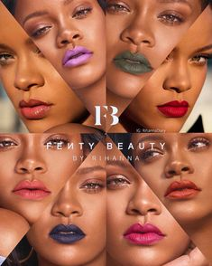 This visual helps motivate the consumer because it shows how many new matte lipsticks Fenty Beauty has. Source: Fenty Beauty
