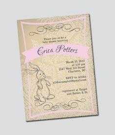 Velveteen Rabbit Inspired Baby Shower Invitation by thinkRSVP