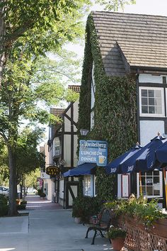 Solvang, California.  Walked down this street many times. Many memories when CA was my home. Trying to get back. Ouch !
