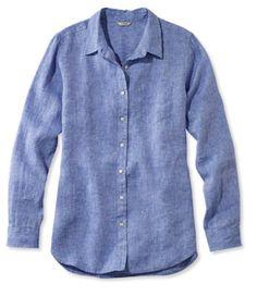 Premium Washable Linen Shirt, Tunic - LL Bean Intl