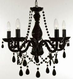 """New Authentic All black Crystal Chandelier Lighting , 5 lights , FREE SHIPPING , H19"""" X WD 19"""" ceiling fixture pendant lamp New CHANDELIERS"""