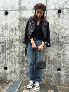 YukiIdeさんのRiders jacket「DRWCYS 」を使ったコーディネート