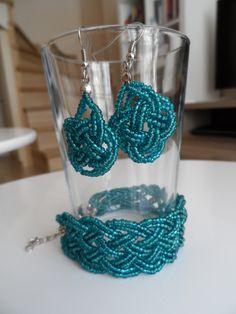 braid earrings and bracelet Beading Projects, Crochet Earrings, Braids, Bracelets, Jewelry, Bang Braids, Cornrows, Jewlery, Jewerly