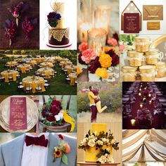 Falling for Gold: Burgundy, Mustard, & Gold