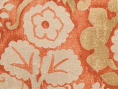 Tuscan Garden - Terra Cotta from Holly Hunt #fabric #orange #floral