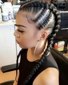 35 Cornrow Hairstyles The number styles you can create with cornrows are limitless! Read on our cornrows guide with conrow hairstyles inspiration and different looks you can create. Braids For Kids, Girls Braids, Kid Braids, Cornrows For Girls, 2 Feed In Braids, African Braids Hairstyles, Girl Hairstyles, Black Hairstyles, Easy Hairstyles