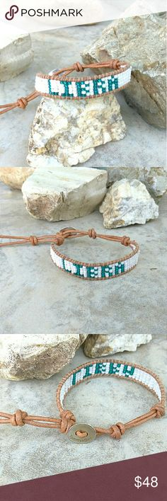 "Libra Zodiac Sign Horoscope Wrap Bracelet ITEM DESCRIPTION   This Handmade Design its Structured with Dainty Japanese Seeds A Delicately Handmade Wall that Reads ""Libra"" in Aquamarine Color.  CAN CUSTOMISE YOUR OWN SIGN, NAME OR ANYTHING YOU PREFER. MSG ME  *This Piece was Created, designed and Handcrafted by Me. I trully Appreciate your Support and Likes. Created for my Own Personal Collection on Etsy.com.  See my Creations at :  www.TommyBee.Etsy.com Tommy Bee Jewelry Bracelets"