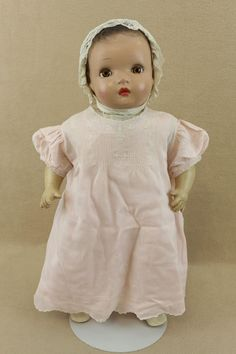 """20"""" old vintage composition cloth Baby Doll Mama Doll 1930s with sleepy eyes"""