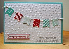 Stampin Up Banner Blast stamp and punch  Maple Leaf Memories