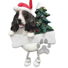 Dangling Leg Springer Spaniel Dog Christmas Ornament http://doggystylegifts.com/products/dangling-leg-springer-spaniel-dog-christmas-ornament