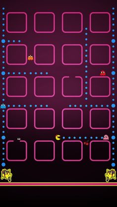 Ms. Pacman iPhone 5 icon frame wallpaper - Go to website for iPhone 4 version