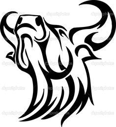 depositphotos_9027952-bull-in-tribal-style---vector-image..jpg 933×1,024 pixels