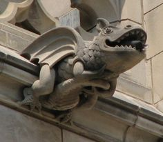 Washington National Cathedral Gargoyles: Happy Face (47) in Washington, D.C. by Carl L Bush, John Guarente