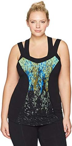 Star Vixen Womens Plus-Size Sleeveless Flyaway Tank Top