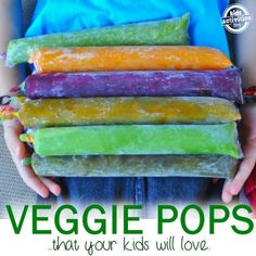 healthy homemade veggie pops that your kids will love!