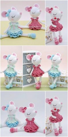 Free amigurumi doll and animal crochet patterns are waiting for you. You can find everything about Amigurumi. Crochet Animal Patterns, Stuffed Animal Patterns, Crochet Patterns Amigurumi, Amigurumi Doll, Crochet Animals, Crochet Dolls, Crochet Mouse, Free Crochet, Free Knitting