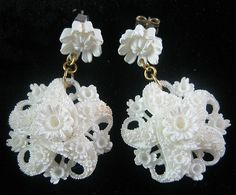 1940s Celluloid earrings