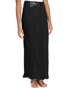 Style&co. Crinkled Belted Maxi Skirt