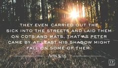 Acts 5:15 from 8/24/14