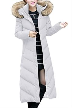 Another awesome Women's Hooded Fashion Fur Collar Side Pockets Long Down Coat