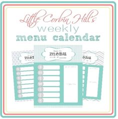 weekly menu printable