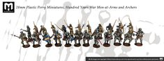 28mm Plastic Perry Miniatures, Hundred Years War Men-at-Arms and archers Grey Knights, Painting Services, Archer, Arms, Miniatures, Hair Accessories, Action, Plastic, Men