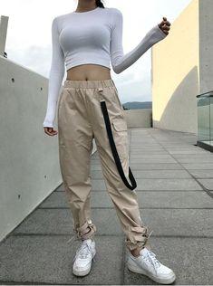 Kargo pantolon kombinleri rva on im nicer when i like my outfit clothes korean rva on im nicer when i like my outfit Grunge Outfits, Sporty Outfits, Mode Outfits, Dance Outfits, Summer Outfits, Girl Outfits, Fashion Outfits, Korean Outfit Street Styles, Korean Outfits