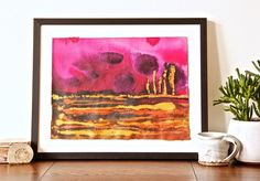 This is Deep Sunset - one of my brand new smaller format original paintings (12 inch x 16 inch) as part of my On The Plain series celebrating stark and dramatic landscapes and skies. #interior #interiordesign #interiorstyle #interiorlovers #interior4all #interiorforyou #interiordecorating #interiorstyling #interiors #interiordesire #interiordesignideas #interiordetails #interiorandhome #interiorforinspo #deco #homedesign #homestyle #galleries #interiordesigns #mixedmedia #wallart #art #myart