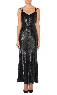 Chanel haute couture black sequin gown, Autumn/Winter 1932