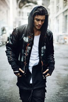 Toni Mahfud wearing Givenchy Reversible Bomber Jacket (Beauty Face Men)